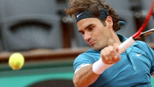 Roger Federer siegte gegen Alejandro Falla in drei Sätzen