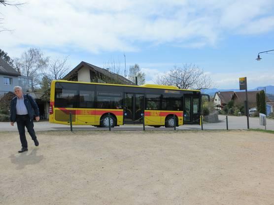 Mit diesem Bus fuhren wir von Lausen nach Ramlinsburg