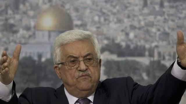 Palästinenserpräsident Abbas bei einer Pressekonferenz in Ramallah