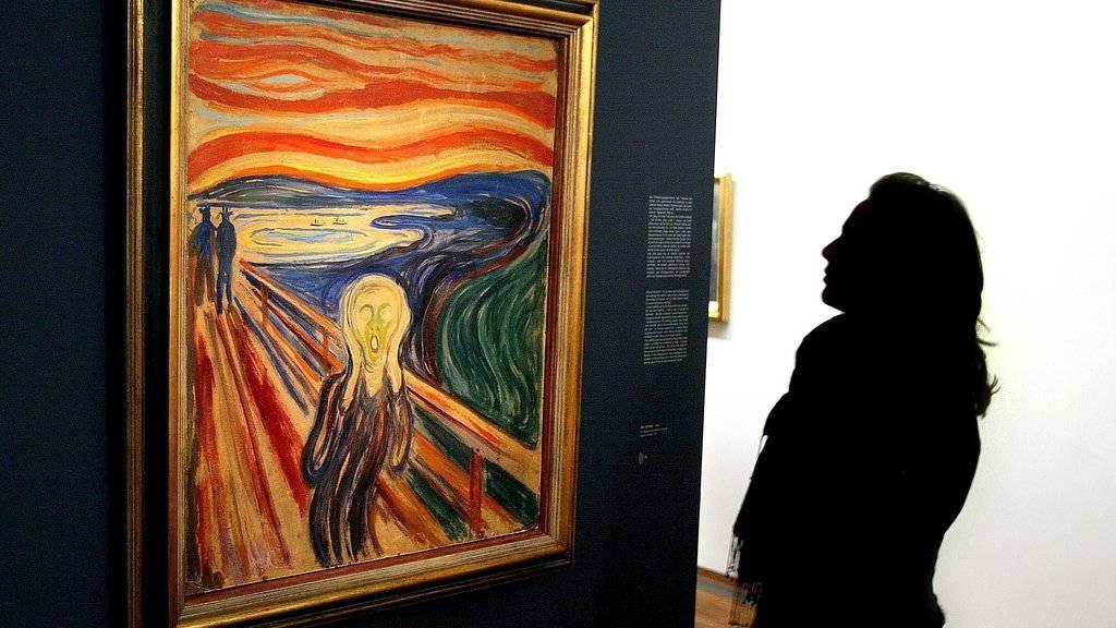 Rätsel gelöst: Ein ominöser weisser Fleck auf einer Version von Munchs berühmtem Gemälde «Der Schrei» ist kein Vogeldreck, sondern Kerzenwachs. (Archivbild)
