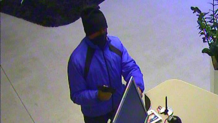 Der Mann beim Überfall auf die Raiffeisenbank in Oberrohrdorf vom 20. Dezember 2011