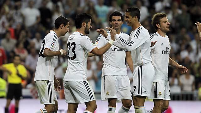 Real Madrid kann einen klaren Heimsieg bejubeln