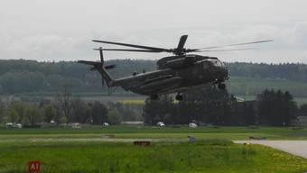 Grosshelikopter CH-53 der deutschen Luftwaffe besucht das Heli Weekend Grenchen