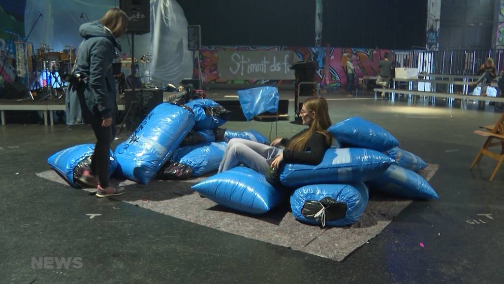 Mit Kunst gegen Klimawandel in Berner Reitschule