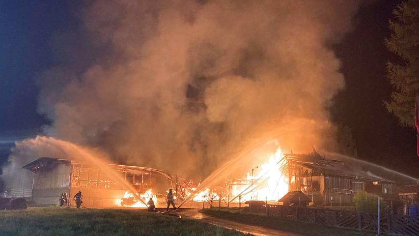 Brand in Einsiedeln