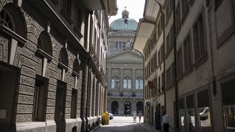 Blick auf das Bundeshaus in Bern.