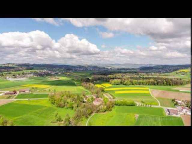 Dronelapse over Schloss Hallwyl, Switzerland
