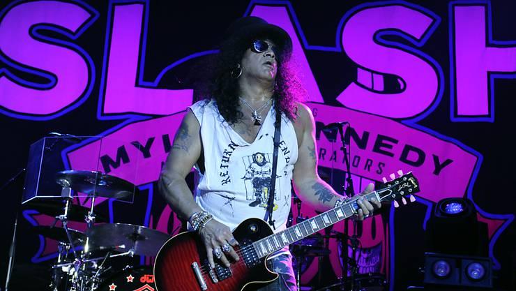"""""""Es wird sehr viel Enerige in die Idee für ein neues Album gesteckt"""": Der US-Rockgitarrist Slash der Kultband Guns N'Roses. (Archivbild)"""