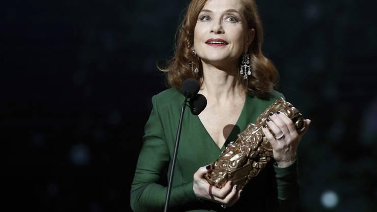 """Isabelle Huppert erhielt im Februar 2017 für ihre Hauptrolle im Thriller """"Elle"""" den Independent Spirit Award als beste Schauspielerin. (Archiv)"""