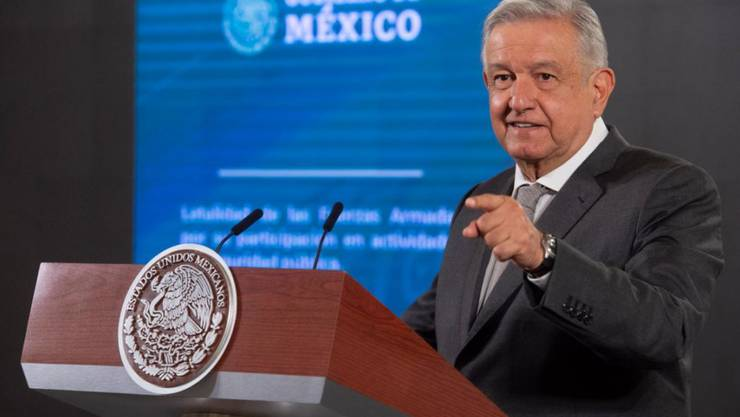 HANDOUT - Mexikos Präsident Andres Manuel López Obrador wird in einem offenen Brief kritisiert. Foto: Jmm/Presidencia México/dpa - ACHTUNG: Nur zur redaktionellen Verwendung und nur mit vollständiger Nennung des vorstehenden Credits