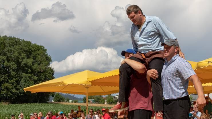 Er ist der erste Munimatt-Festsieger bei den Aktiven 2019: Kranzer Kropf Marcel, Mitglied des SK-Mümliswil.