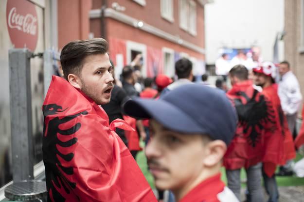 Fans beim Spiel Schweiz-Albanien.