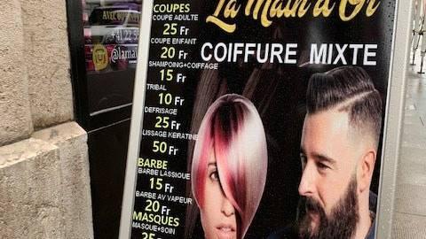 Haareschneiden zu Billigstpreisen: Im Genfer Quartier Pâquis herrscht grosse Konkurrenz - und derzeit vor allem grosse Unsicherheit.