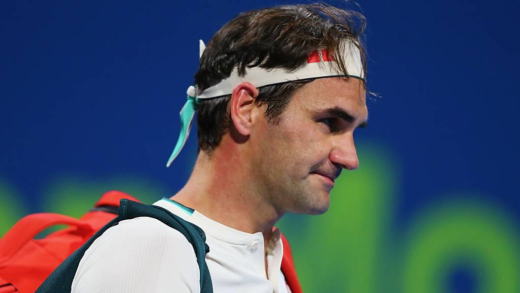 Roger Federer setzt seinen Weg fort: vorerst wieder mit Training.