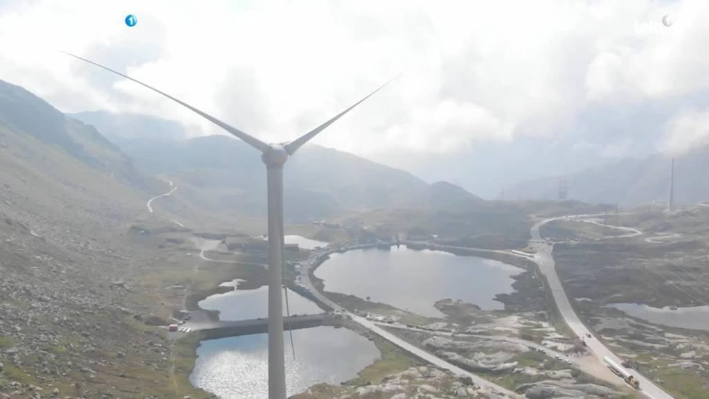 Neue Windkraft-Anlage auf dem Gotthard