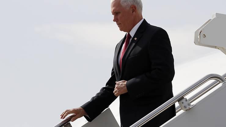 US-Vizepräsident Mike Pence bei der Ankunft in der türkischen Hauptstadt Ankara.