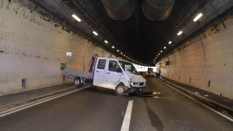 Wegen der Tunnel-Teilsperrung kam es zu Verkehrsbehinderungen.