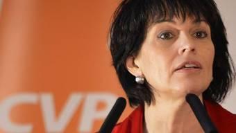 Bundesrätin Leuthard wirbt vor ihrer CVP in Olten für das neue Raumplanungsgesetz