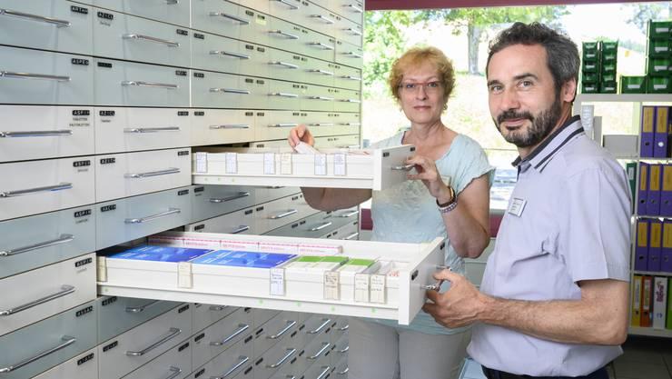 Seit 1995 betreiben Gaby und Daniel Aebi die Apotheke Husmatt in Baden-Dättwil.