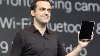 Hugo Barra, Chef des Produktemanagements bei Android, präsentiert das Nexus 7-Tablet