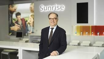 """""""Diese Transaktion ist für uns phantastisch"""": Sunrise-Präsident Peter Kurer verteidigt den geplanten, umstrittenen Kauf des Kabelnetzbetreibers UPC. (Archivbild)"""