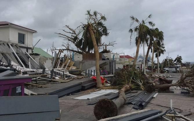 Zerstörungen auf den Französischen Antillen