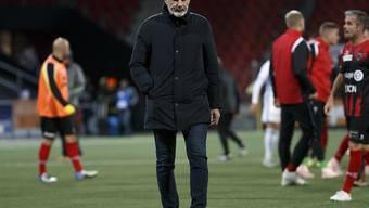 Michel Decastel muss mit Xamax nach vier Spielen ohne Niederlage wieder einmal als Verlierer vom Feld