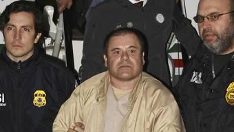 """Dürfte lebenslänglich hinter Gitter kommen: der in den USA schuldig gesprochene mexikanische Drogenboss Joaquín """"El Chapo"""" Guzmán. (Archivbild)"""
