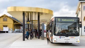 Die Linie 12 verkehrt ab Mitte Dezember bis zum Kantonsspital Baden.
