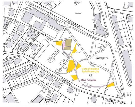 Skizze des Stadtparks