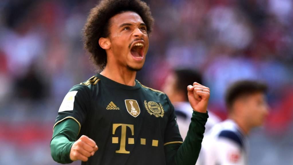 Leroy Sane bringt die Münchner in Führung.