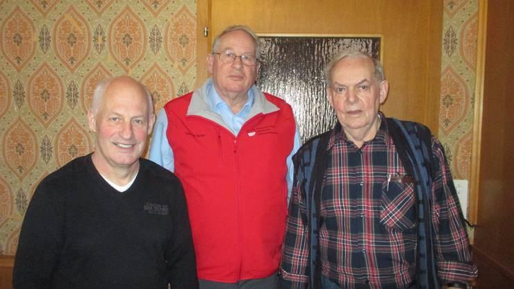 v.l. Hansueli Dick, 3. Rang ; Konrad Ryser , 1. Rang und Kurt Gisiger, 4. Rang. Es fehlt Peter Ingold, 2. Rang.