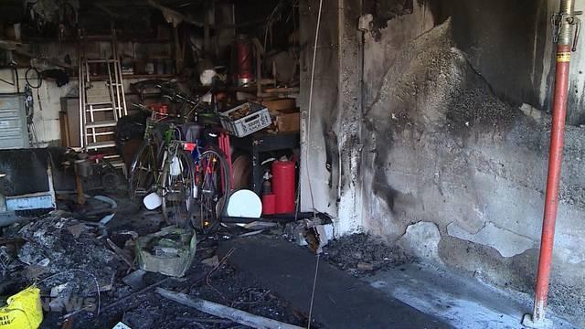 Garagen-Brand eines Einfamilienhauses in Niederbuchsiten