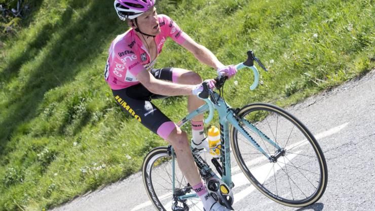 Steven Kruijswijk (LottoNL-Jumbo) hat sich bei seinem Sturz auf der 19. Giro-Etappe eine Rippe gebrochen