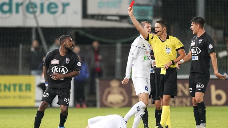 Serey Dié wurde gegen Lausanne vom Platz gestellt.