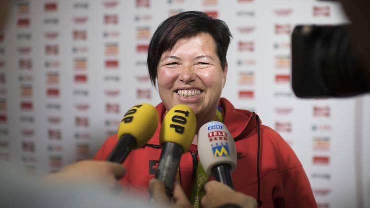 Heidi Diethelm Gerber holt in Minsk Silber mit der Sportpistole (Archivbild)