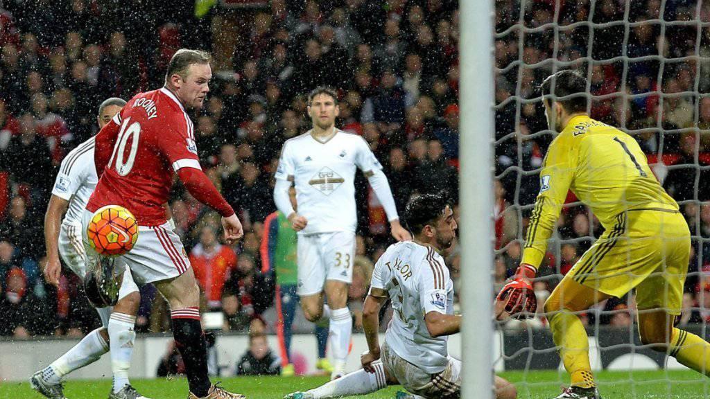 Wayne Rooney erlöste mit seinem Traumtor zum 2:1 gegen Swansea sein Team