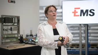 Ems-Chefin Magdalena Martullo-Blocher kann weiter zufrieden sein mit ihrem Unternehmen: Der Umsatz von Januar bis September hat um über 10 Prozent zugenommen. (Archivbild)