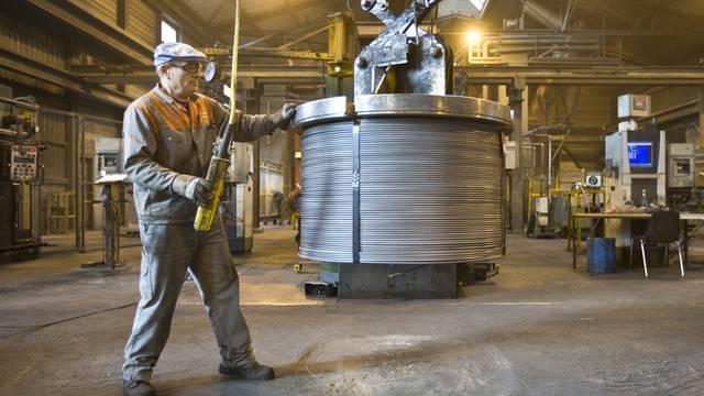 Blick in eine Produktionshalle der Stahl Gerlafingen AG (Archiv)