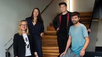 Ein Quartett für die Zukunft: Anja Dirks, Inga Schonlau, Antú Romero Nunes und Jörg Pohl (v.l.) leiten ab 2020 die Schauspielsparte am Theater Basel. Priska Ketterer