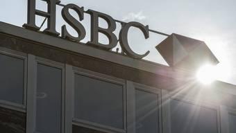 Das Logo der Bank HSBC in Genf