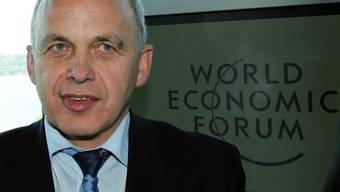 Bundesrat Ueli Maurer nahm früher schon am WEF teil, damals noch als SVP-Parteipräsident (Archiv)