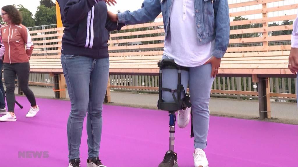 «Wethe15»: Swiss Paralympic organisiert Sensibilisierungsparkour auf Kornhausbrücke