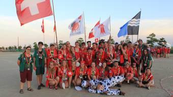 Party zu Ehren der Schweiz: Teilnehmer des «World Scout Jamboree» in Yamaguchi.