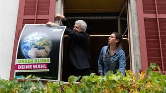 Die grüne Welle habe alles andere überstrahlt, sagt Politologe Lukas Golder – zur Freude des am Sonntag frisch gewählten Nationalrats Felix Wettstein und Grünen-Kantonalpräsidentin Laura Gantenbein. Die Partei nahm der SP im Kanton Solothurn einen Sitz weg.