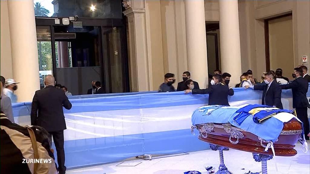 Nach Tod von Diego Maradona: Argentinien trauert um Nationalhelden