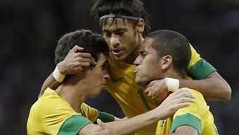 Die Brasilianer spielen gegen Mexiko um Olympia-Gold.