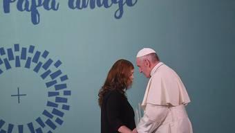 Papst Franziskus im Frauengefängnis von Santiago de Chile.