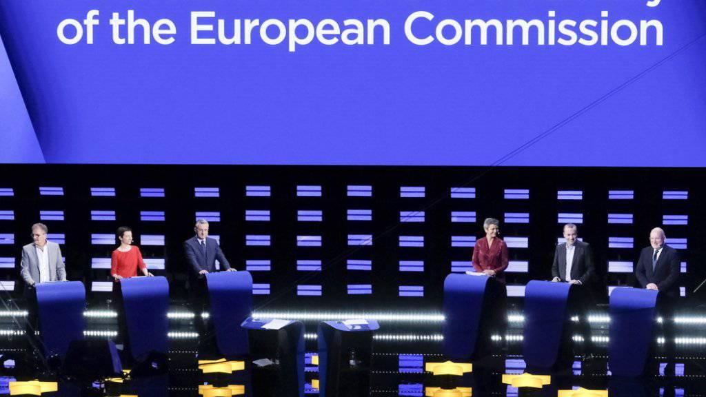Die Debatte am Mittwoch der Top-Kandidaten der sechs grössten Fraktionen im EU-Parlament.