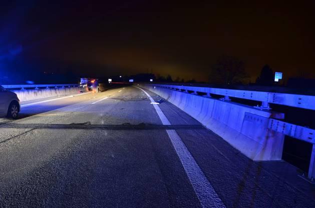 Der Unfall auf der A2 bei Giebenach.